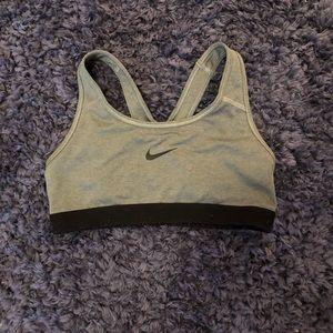 Grey size S Nike sports bra